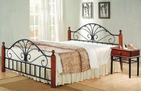 Кровать AT 9027 Metal&Wood Beds